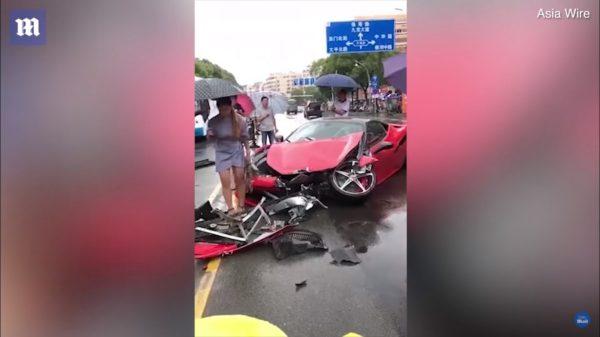 Woman Wrecks Rental Ferrari 458 Minutes After Taking It Out Of Dealership (2)