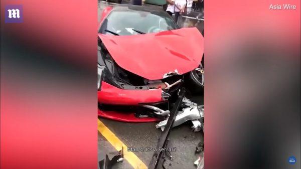 Woman Wrecks Rental Ferrari 458 Minutes After Taking It Out Of Dealership (3)