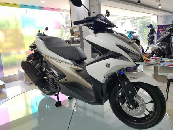 Yamaha Aerox 155 – Displayed In India