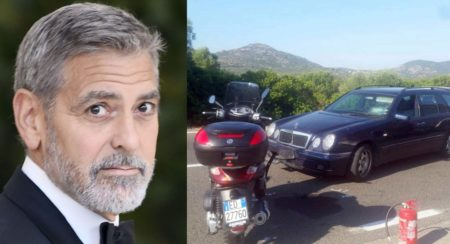 Actor George Clooney Injured in Scooter Accident - Feature Image