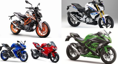 Tech Spec Comparo: BMW G 310 R vs KTM 390 Duke vs Yamaha YZF-R3 vs Kawasaki Ninja 300 vs TVS Apache RR310
