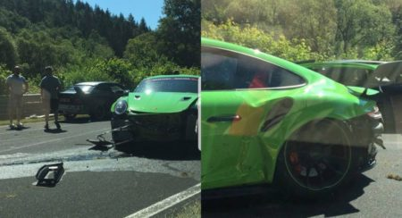 Brand New Porsche 911 GT3 RS Suffers Massive Damages In Nurburgring Crash - Feature Image