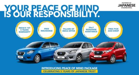 Datsun 'Peace of Mind' Package Offers 5 Years / Unlimited Kilometers Extended Warranty