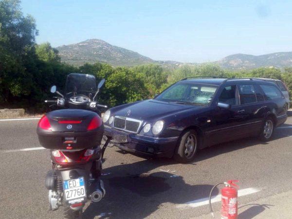 George Clooney Crash In Sardinia – Photograph via Sky News
