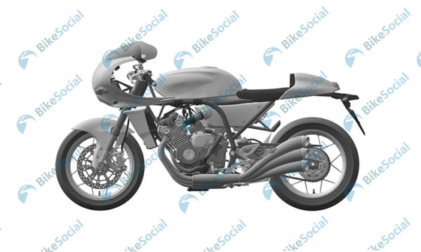 Honda Six Cylinder Retro Motorcycle Patent Images (2)