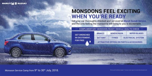 Maruti Suzuki – Monsoon Service Camp