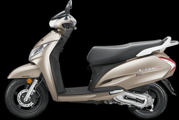New 2018 Honda Activa 125 – MatteSeleneSilverMetallic