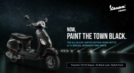 Vespa Notte 125 Launched In India - Official Release (1)