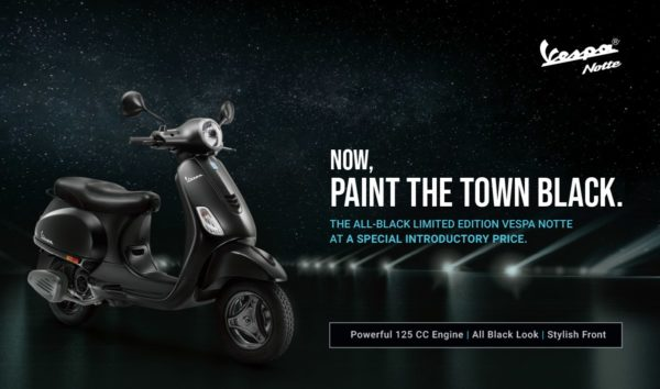 Vespa Notte 125 Launched In India – Official Release (1)