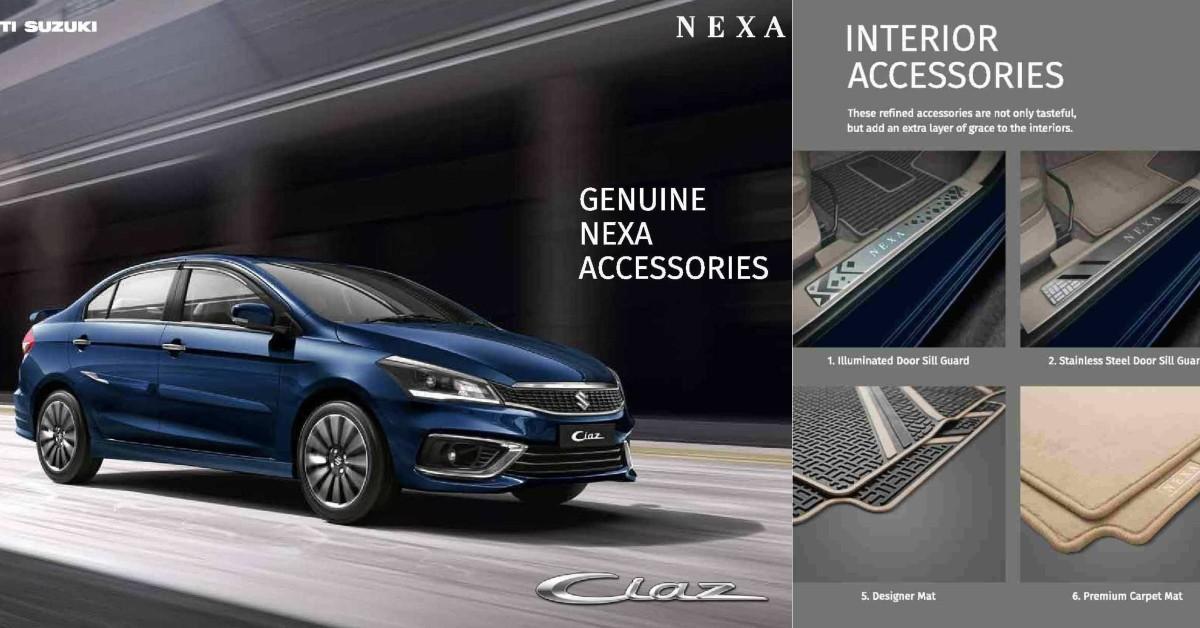2018 Maruti Suzuki Ciaz Accessories Brochure Reveals All The