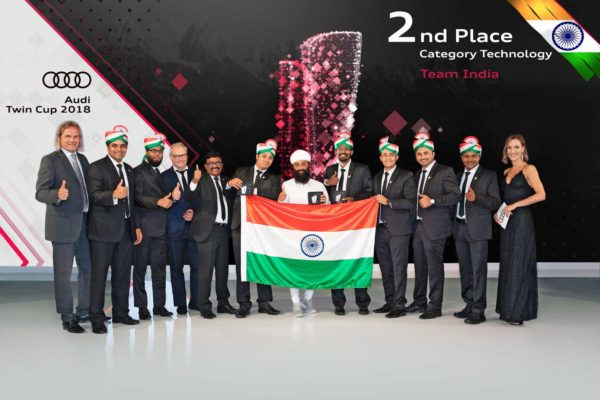 Audi India team bags 2nd place in the International Finals of the Audi Twin Cup 2018