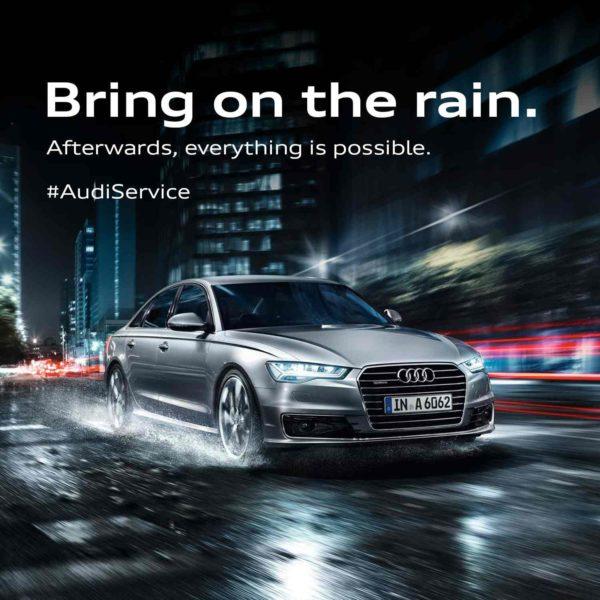 Audi Monsoon Campaign – 'Bring on the rain'