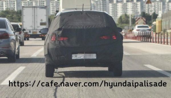 Hyundai GrandI10 replacement spy shot dead rear
