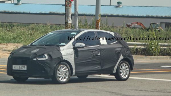 Hyundai GrandI10 replacement spy shot front 3 quarter
