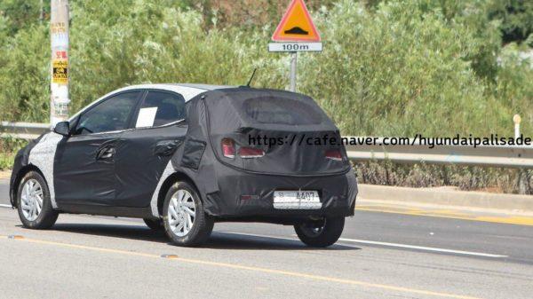 Hyundai GrandI10 replacement spy shot rear