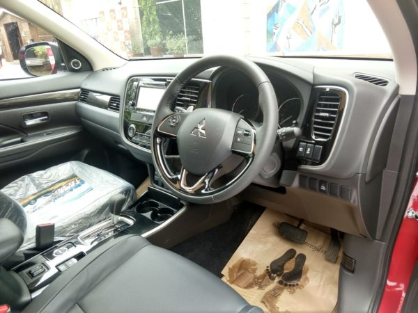 Mitsubishi Outlander launch event interior dash driver side