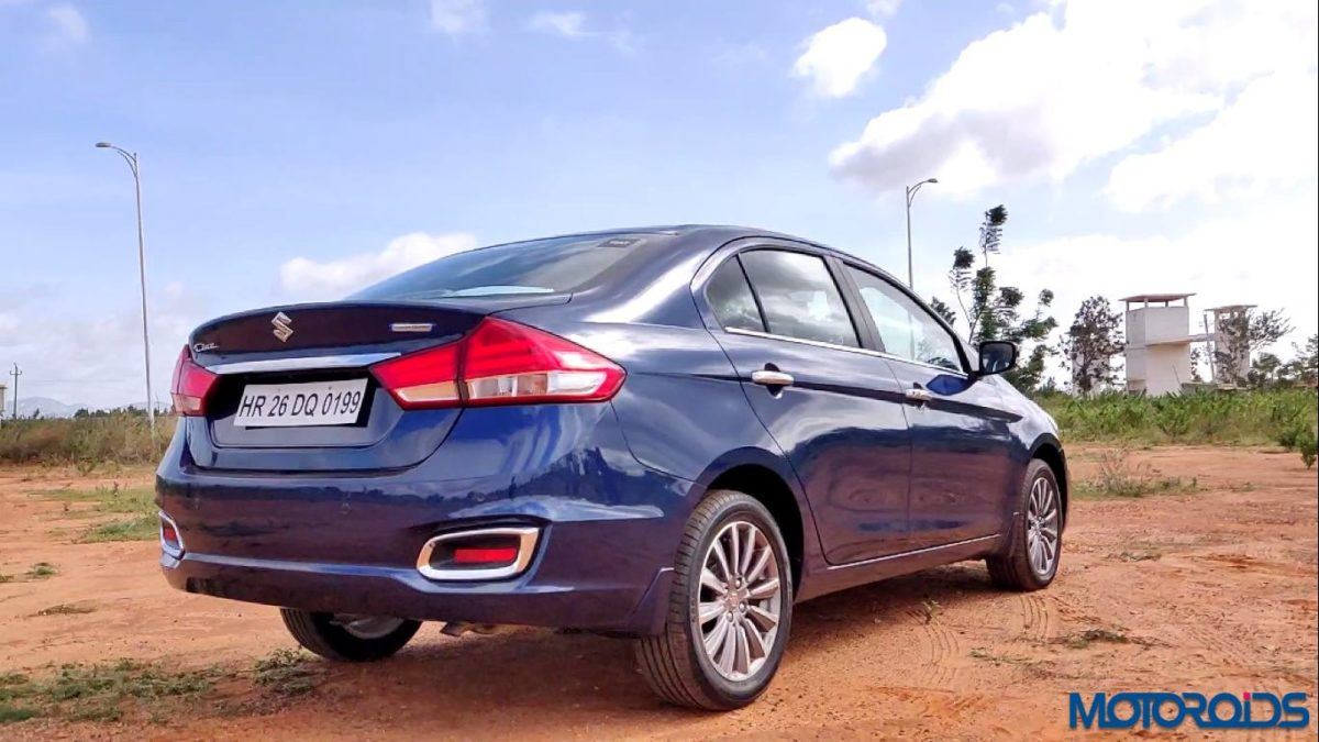 New 2018 Maruti Suzuki Ciaz rear 3 quarts