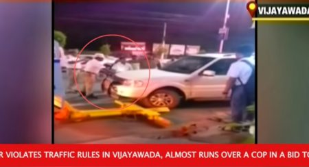 Politician Almost Runs Over A Traffic Cop To Evade Traffic Rule Violation Fine - Feature Image