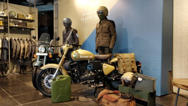 Royal Enfield Classic Signals launch side brown