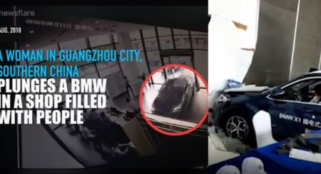 VIDEO_ Woman Crashes Brand New BMW X1 In Dealership While Trying To Park - Feature Image