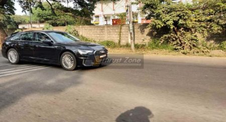 2019 Audi A6 spyshots Side view