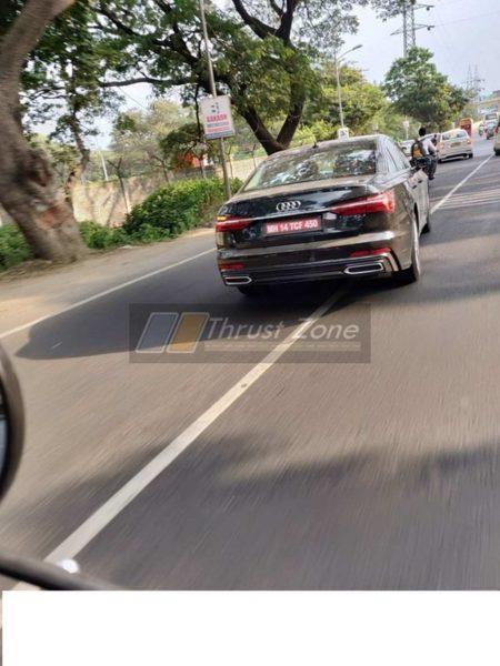 2019 Audi A6 spyshots rear
