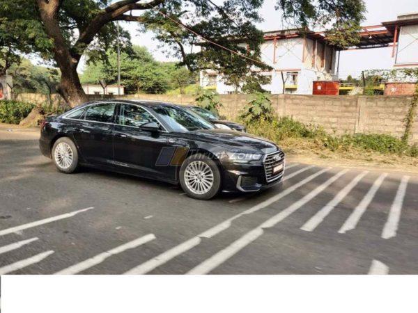 2019 Audi A6 spyshots Side