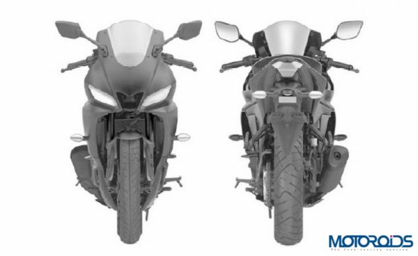 2019 Yamaha R3 Front and back Leaked Images