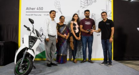 Ather Delivery Event - First Ather 450 scooter recipient, Aditya Reddy (1) (1)