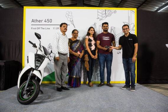 Ather Delivery Event – First Ather 450 scooter recipient, Aditya Reddy (1) (1)