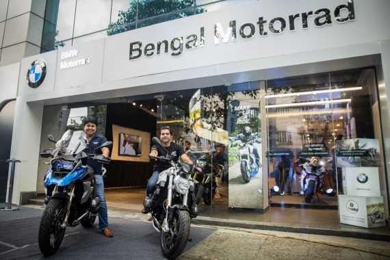 Bengal motorrad outside showroom