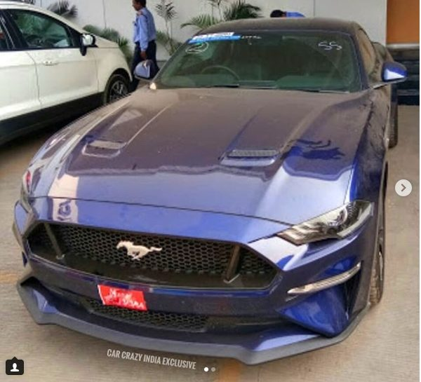 Ford Mustang facelift front