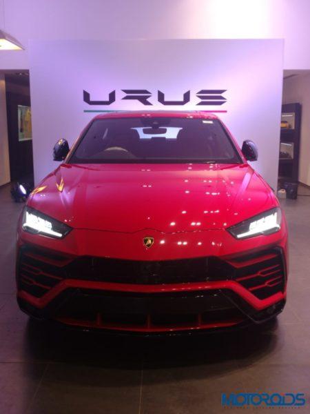 Lamborghini Urus first in india fornt drl on