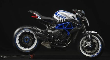 MV Agusta Dragster 800 RR Pirelli Blue and White