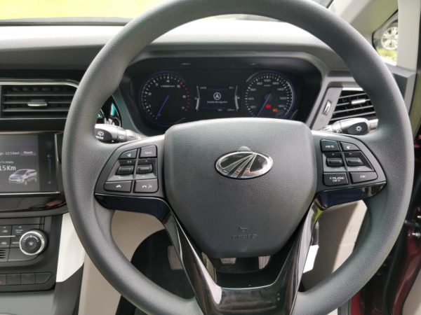 Mahindra Marazzo Launch steering wheel
