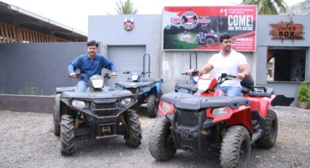 Mr. Pankaj Dubey, MD & Country Head, Polaris India and Mr. Raj Kumar, Co-founder, Dirt Mania Adventu