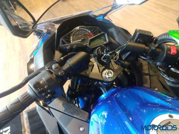 Mumbai's first ninja 300 abs instrument console