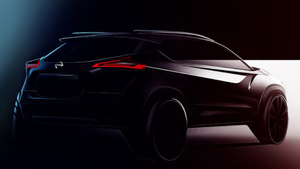 Nissan KICKS design sketch rear