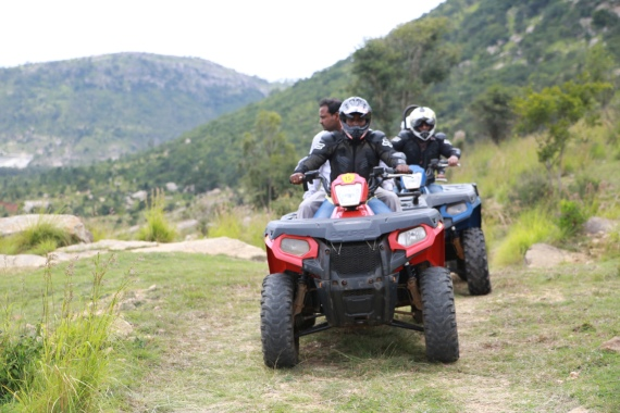 Polaris ATVs at Dirt Mania Adventure