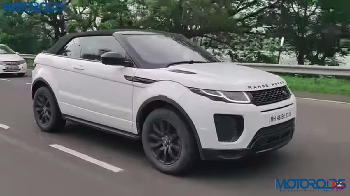 Range Rover Evoque Convertible review front left corner