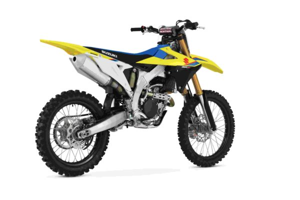 Suzuki RM Z250 dirt bike rear 3 quarter