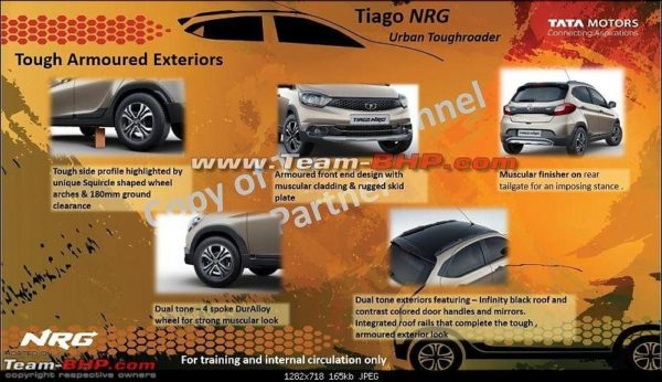 Tiago NRG exterior features