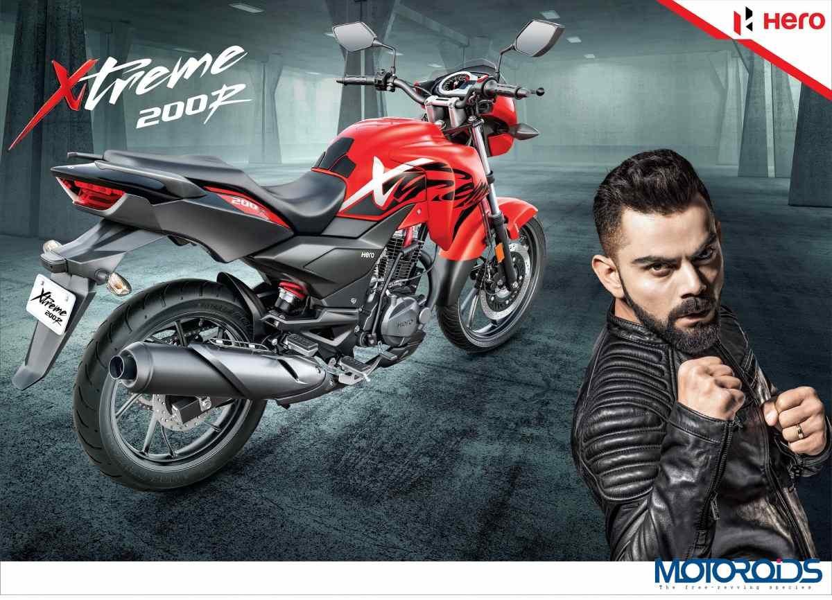 Virat Kohli, Brand Ambassador of Hero MotoCorp Ltd. with the Xtreme 200R.
