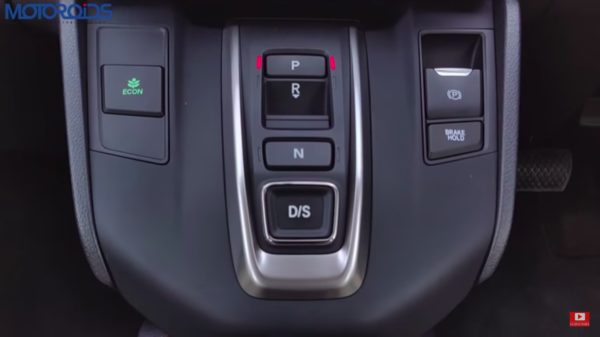 honda crv review gear selector