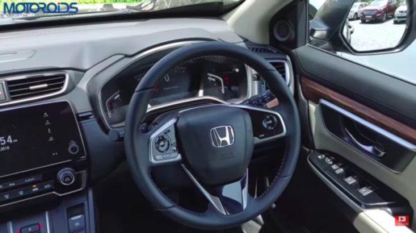 honda crv review steering wheel