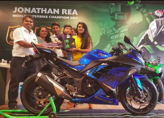 mumbai's first ninja 300 ABS customer featured