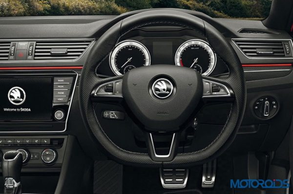 Skoda Superb Sportline Interior Steering Wheel