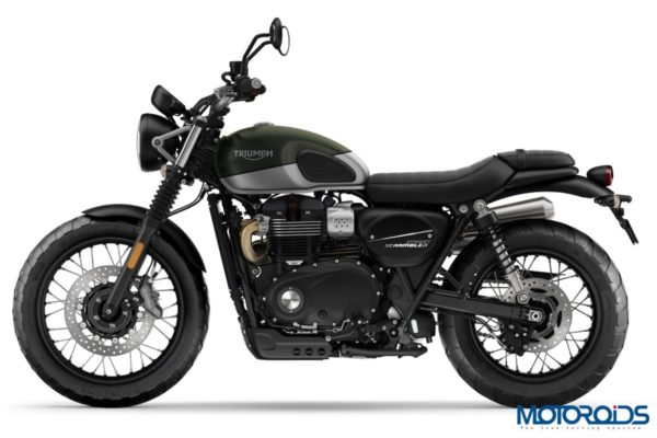 Triumph Street Scrambler Green & Silver Left Side 2019