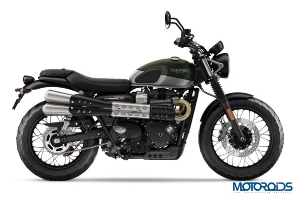Triumph Street Scrambler Green & Silver Right Side 2019