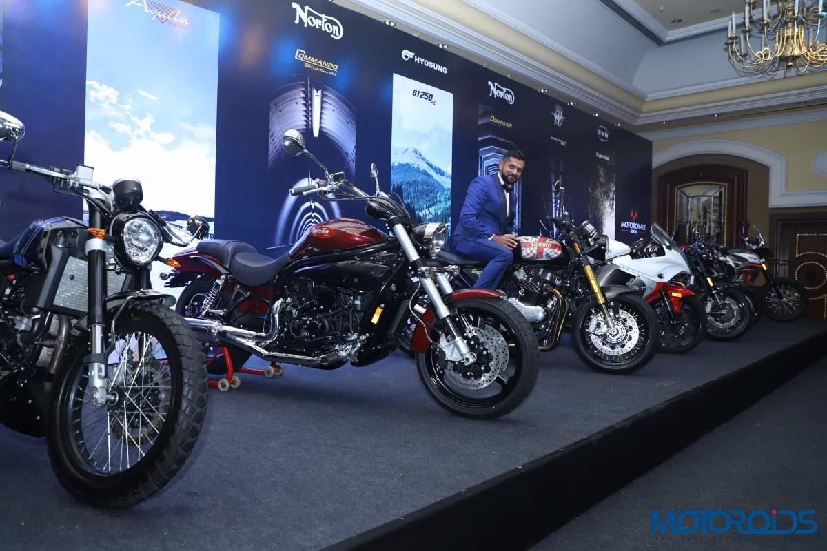 Ajinya Firodia Managing Director, Motoroyale unveils the seven new superbikes at the national press conference (1)
